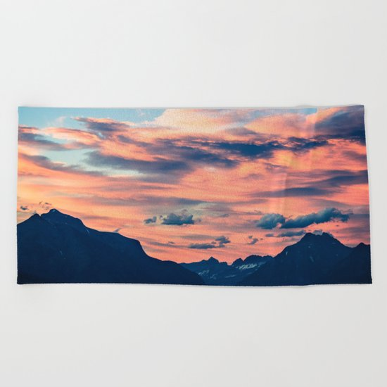 Sunset Mountains Beach Towel