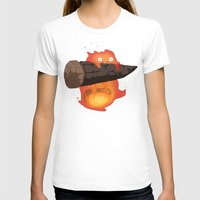 calcifer T-shirts featuring Calcifer by Oujo