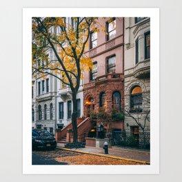 UES Brownstones Art Print