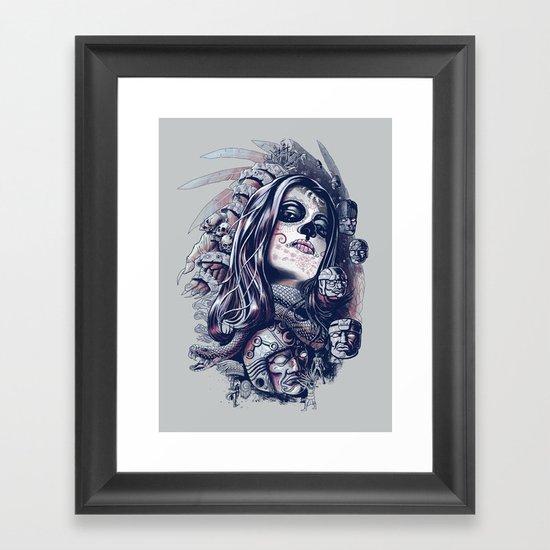 Coyolxauhqui Framed Art Print