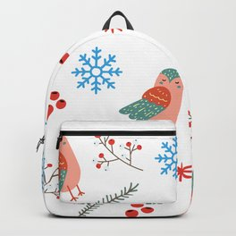 Cute birds winter pattern holidays gift Backpack