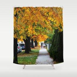 Autumn on My Street Shower Curtain