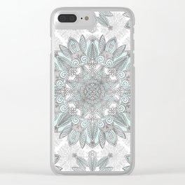 Ice Mandala Clear iPhone Case