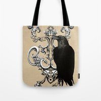 raven Tote Bags featuring Raven by Кaterina Кalinich