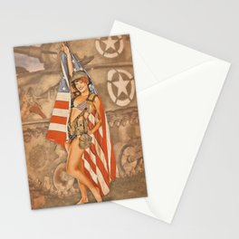 Pinups - Flag Day Stationery Cards