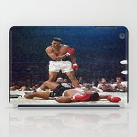 ali gulec iPad Cases featuring Ali Painting by Neon Monsters