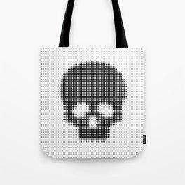 Halftone Skull Tote Bag