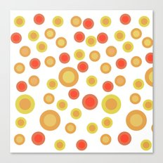 Circular Warm Texture Canvas Print