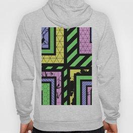Pastel Corners (Abstract, geometric, textured designs) Hoody