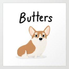 "Cute Custom Dog Artwork ""Butters"" Art Print"