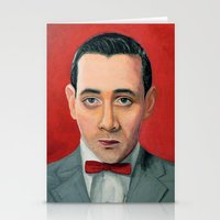 pee wee Stationery Cards featuring Pee-Wee Herman, A portrait by Jen Holland AKA nerdifer