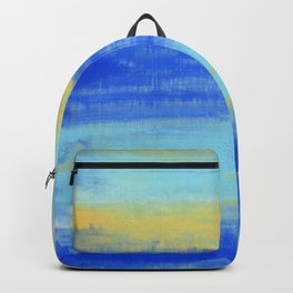 Relaxing Beach Aqua Turquiose Nautical Abstract Art Backpack