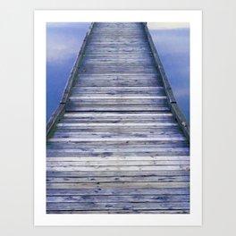 Dock stroll Art Print