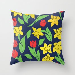 Springtime Floral Throw Pillow