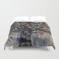 levi Duvet Covers featuring :: Stained Glass Tree :: by :: GaleStorm Artworks ::