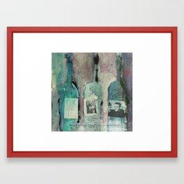 live simply, laugh a lot, wine often Framed Art Print