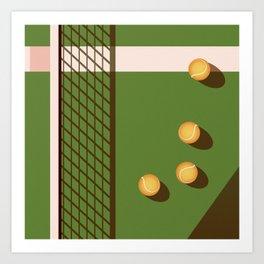 Tennis Court Art Print