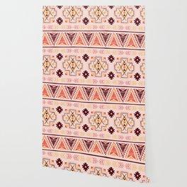 Pink tribal pattern Wallpaper
