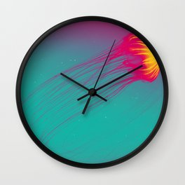 Abstract Jellyfish Wall Clock