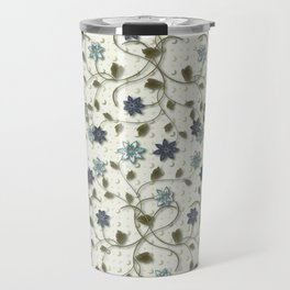 Blue Paper Flowers Travel Mug