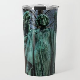 Angel Monument Watches Over Albany Rural Cemetery New York Travel Mug