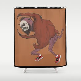 The frightening monster Shower Curtain