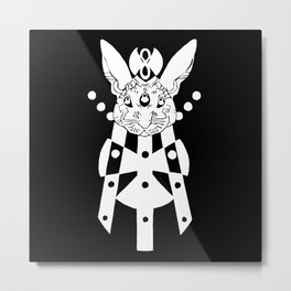the mothership (white on black) Metal Print