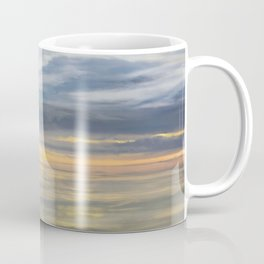 Old Cargo Ship Steaming on the Horizon Coffee Mug