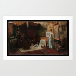 Charles Courtney Curran - Fair Critics Art Print