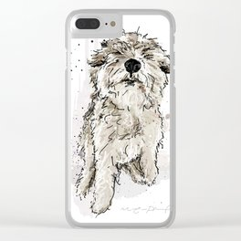 Gus the dog Clear iPhone Case