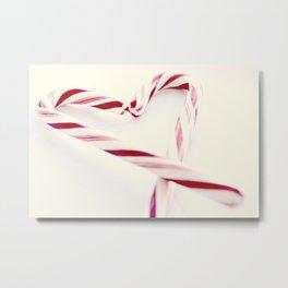 Candy Cane Heart Metal Print