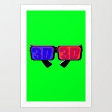 Green Screen 3D Art Print