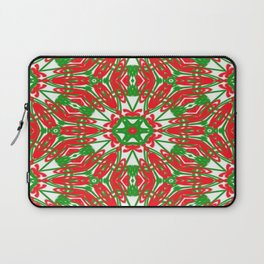 Red, Green and White Kaleidoscope 3376 Laptop Sleeve