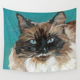 Tipper the Cat Portrait Wall Tapestry