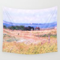 horses Wall Tapestries featuring Horses  by Truly Juel
