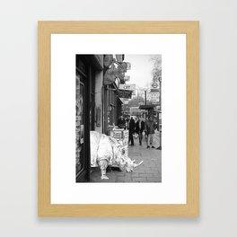 Rhino in Camberwell London Framed Art Print