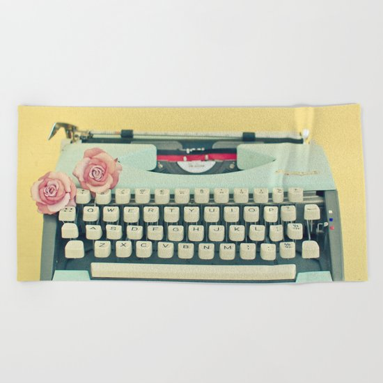 The Typewriter Beach Towel