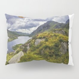 Snowdonia Helicopter Mountain Resuce Pillow Sham