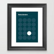 Reductionism Framed Art Print