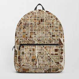 Las Vegas City Street Map Backpack