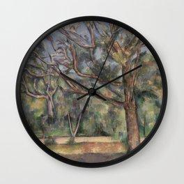 Trees and Road Wall Clock