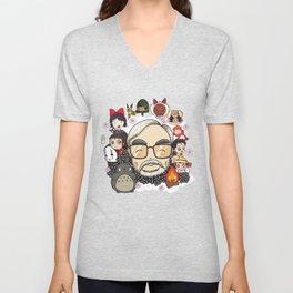 Ghibli, Hayao Miyazaki and friends Unisex V-Neck