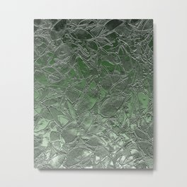 Grunge Relief Floral Abstract G167 Metal Print