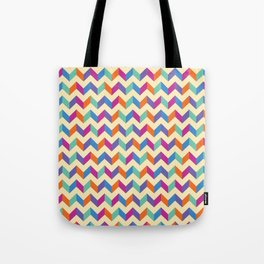 Coloured Chevron Tote Bag