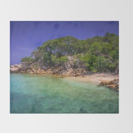 Tropical Paradise Throw Blanket