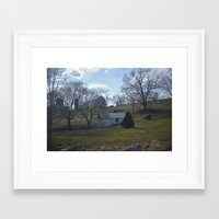 farm Framed Art Prints featuring farm by Dottie