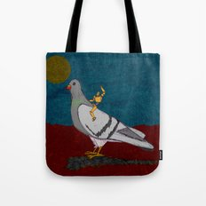 Pigeon Rodeo Tote Bag