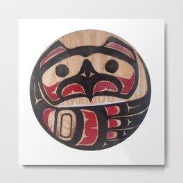 Northwest Pasific American Native Totem In Cut In Wood No. 5 Metal Print