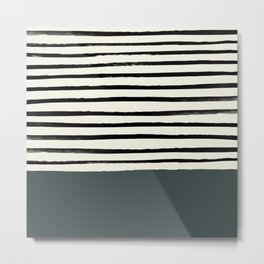 Juniper x Stripes Metal Print