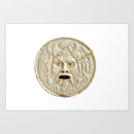 bocca della verita mouth of true statue legend Art Print